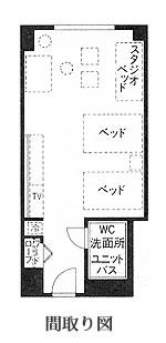 洋室の間取り図