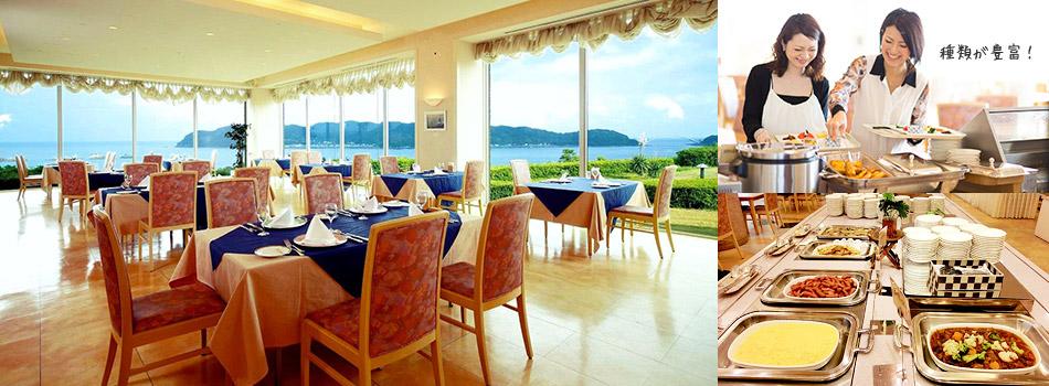海が見えるレストランソレイユで和洋バイキングの朝食