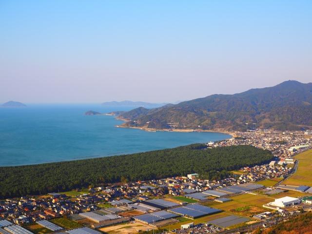 鏡山展望台からの風景