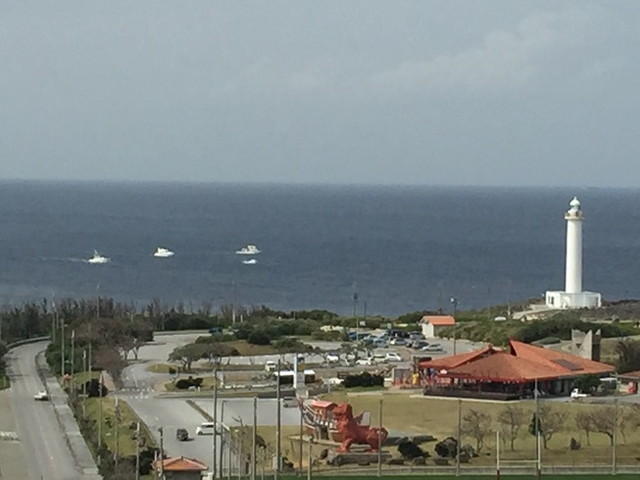 Royal Hotel 沖縄残波岬から見えるクジラ