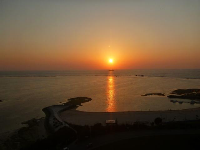 沖縄残波岬の夕日