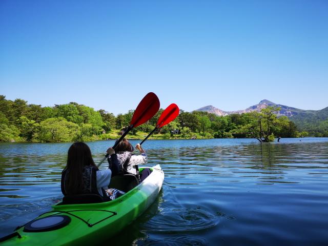 小野川湖 カヌー