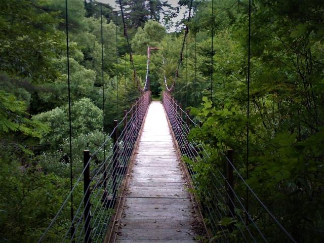 桧原湖畔探勝路 吊り橋