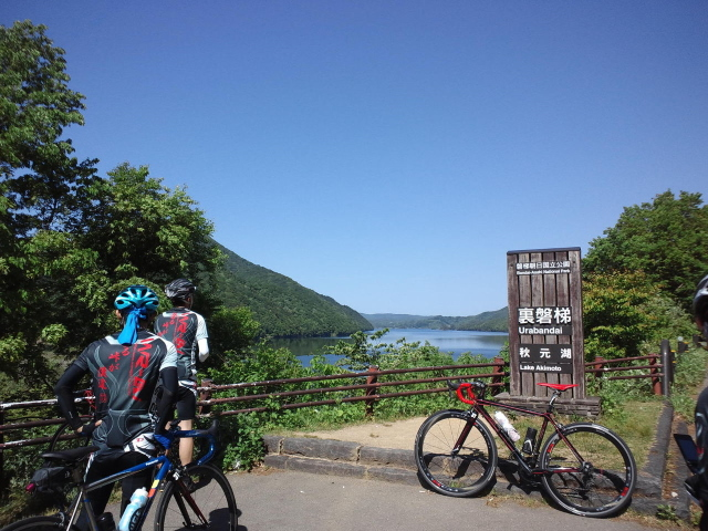 秋元湖 サイクリング