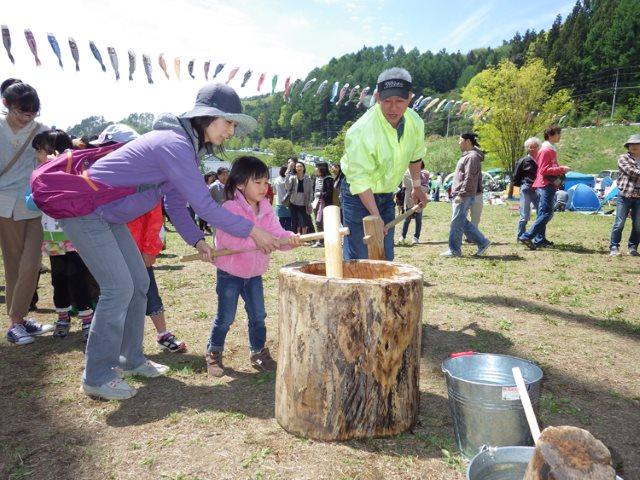 長沢鯉のぼり祭り もちつき